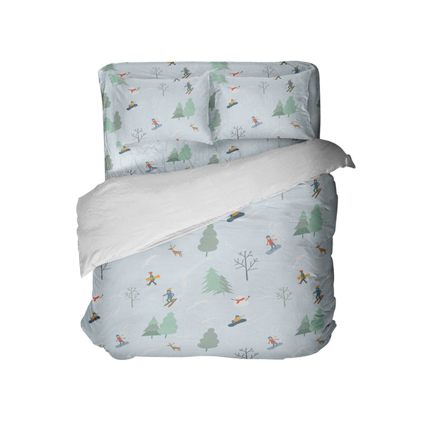 kids snowboard and ski comforter set