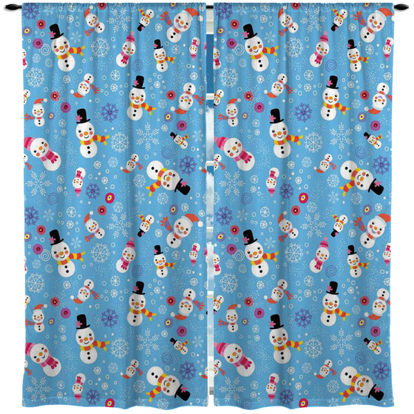 Snowman and Snowwoman Holiday Window Curtains from Kids Bedding Company