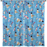 KIDS HOLIDAY SNOWMAN WINDOW CURTAINS