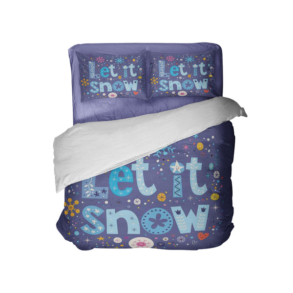 "Kids Christmas Comforter Set ""Let it Snow"" from Kids Bedding Company"