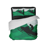 KIDS SNOCROSS RIDER IN GREEN COMFORTER SET