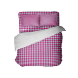Preppy Pink and Blue Gingham Girls Bedding Set from Kids Bedding Company