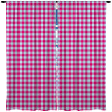 Preppy Pink and Blue Gingham Girls Window Treatments from Kids Bedding Company