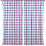 PINK AND BLUE GINGHAM WINDOW CURTAINS FROM KIDS BEDDING COMPANY