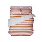 Preppy Kids Orange and Pink Stripes Comforter Set from Kids Bedding Company
