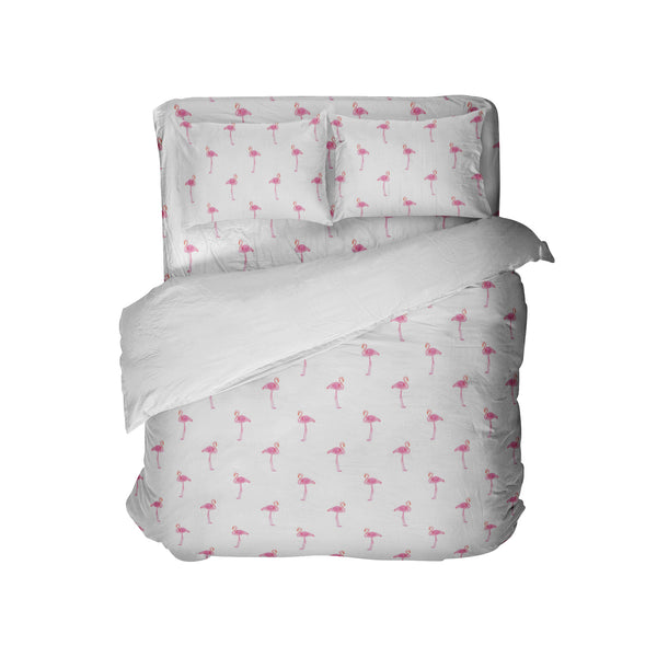 PREPPY PINK FLAMINGOS COMFORTER AND SHEET SET FROM KIDS BEDDING COMPANY