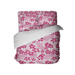 Pink Plumeria Hawaiian Bedding Set from Surfer Bedding