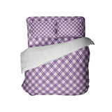 PREPPY PURPLE GINGHAM COMFORTER AND SHEET SET FROM KIDS BEDDING COMPANY