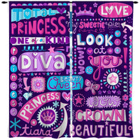 PRINCESS DIVA WINDOW CURTAINS FROM KIDS BEDDING COMPANY