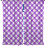 PURPLE GINGHAM WINDOW CURTAINS FROM KIDS BEDDING COMPANY