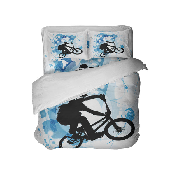 BMX RAD COMFORTER SHOWN WITH PILLOWCASES AND BMX SHEETS