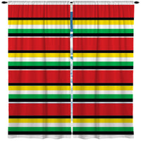 RASTA KIDS STRIPE CURTAINS FROM KIDS BEDDING COMPANY