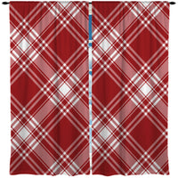RED AND WHITE PLAID CURTAINS