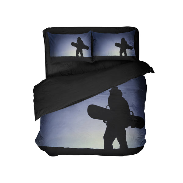 KIDS SNOWBOARD COMFORTER SET WITH PILLOWCASES