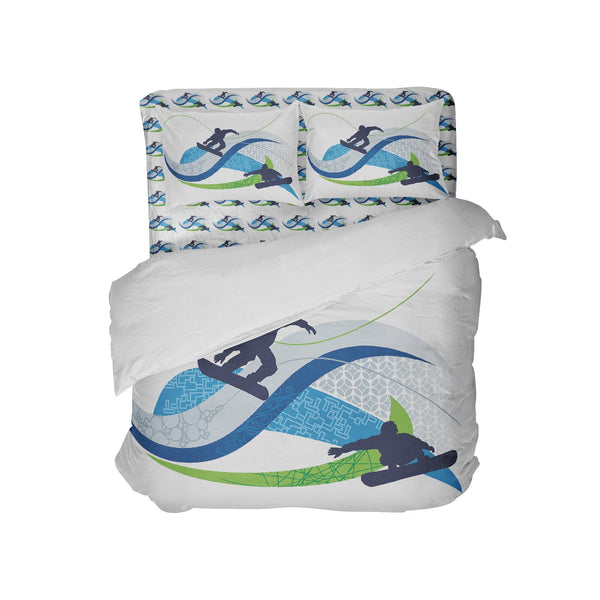 kids snowboard bedding set