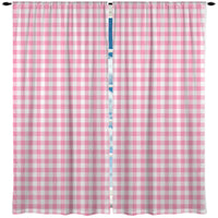 PINK GINGHAM WINDOW CURTAINS FROM KIDS BEDDING COMPANY