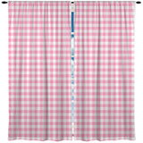 PREPPY PINK AND WHITE GINGHAM WINDOW CURTAINS FROM KIDS BEDDING COMPANY