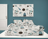 ROCKETS COMFORTER AND SHEET SET FROM KIDS BEDDING COMPANY