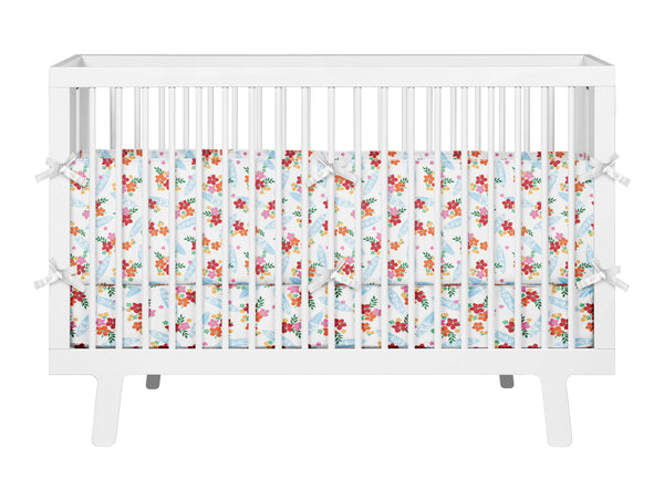 SURFER GIRL BABY CRIB BEDDING SET