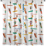 SURFING GIRLS SURFER GIRL WINDOW CURTAINS
