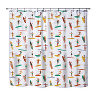 GIRLS SURFING SHOWER CURTAIN