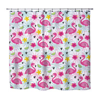 TROPICAL FLAMINGOS SHOWER CURTAIN FROM KIDS BEDDING COMPANY