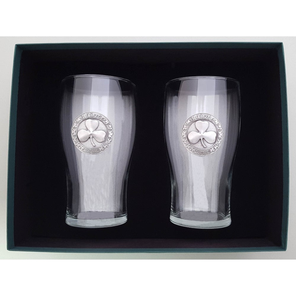 Pair of Irish Pint Glasses