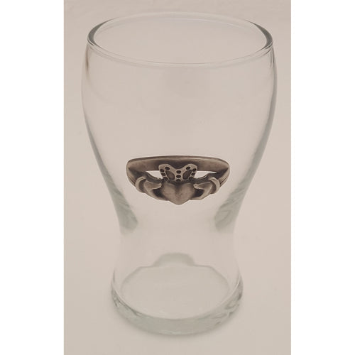 Mini Irish Pub Glass Taster with Pewter Medallion