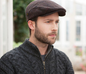 Mucross Weavers Trinity Traditional Wool Irish Flat Cap