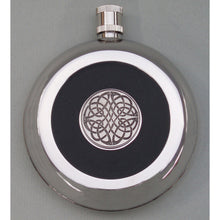 Irish Silver Finish and Pewter Flask celtic