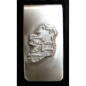 Claddagh or Map of Ireland Money Clip