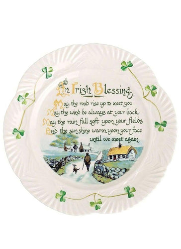 Belleek Irish Blessing Plate