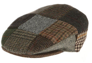 Vintage Tweed Hanna Traditional Irish Flat Cap Patchwork