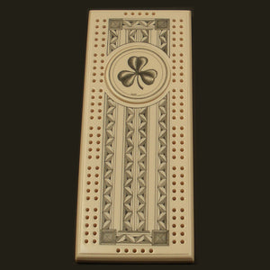 Irish Scrimshaw Style Cribbage Board