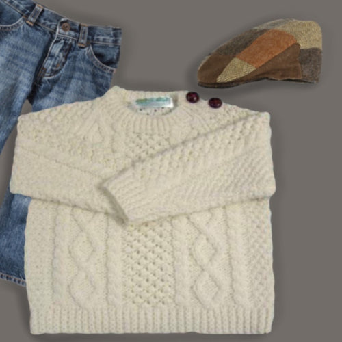 Irish Knit Acrylic Aran Child's Sweater