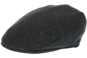 Vintage Tweed Hanna Traditional Irish Flat Cap blue