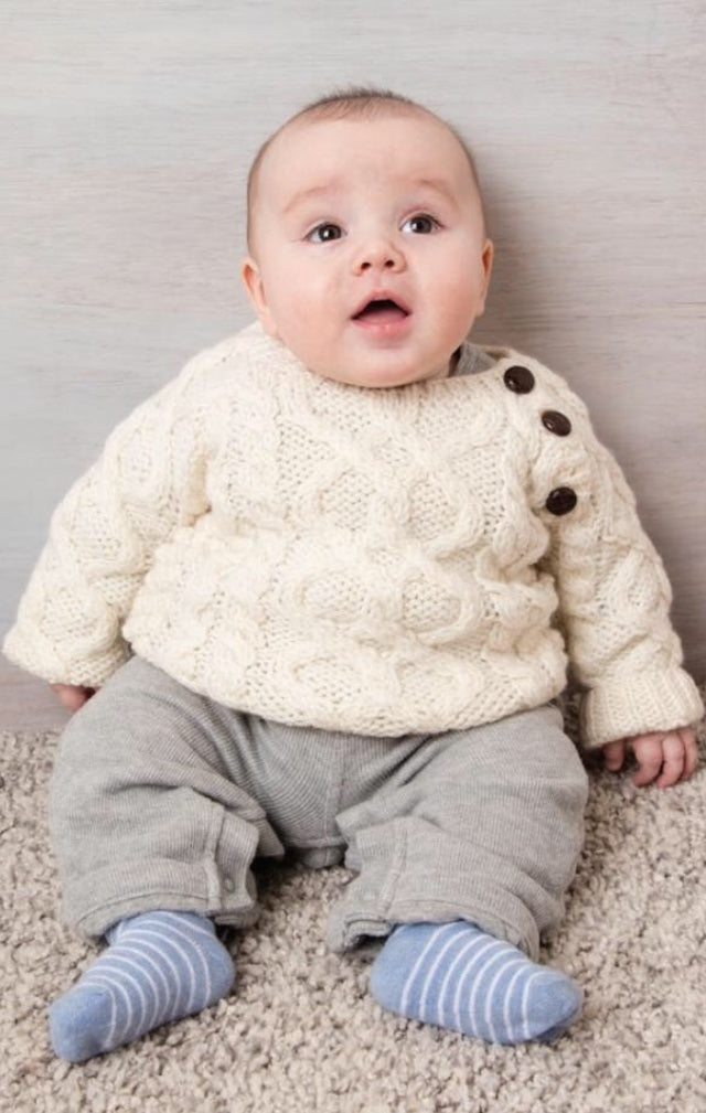 Irish Knit Infant's Aran Sweater