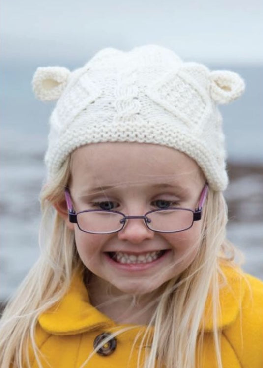 Beyond Adorable Aran Knitwear Child's Bear Cap
