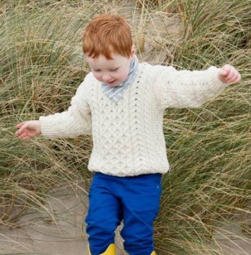 Child's Traditional Irish Knit Pullover