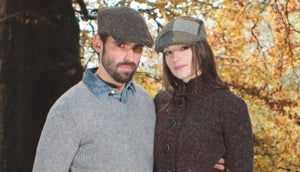 Vintage Tweed Hanna Traditional Irish Flat Cap Couple