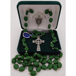 Shamrock Bead Celtic Cross Rosary
