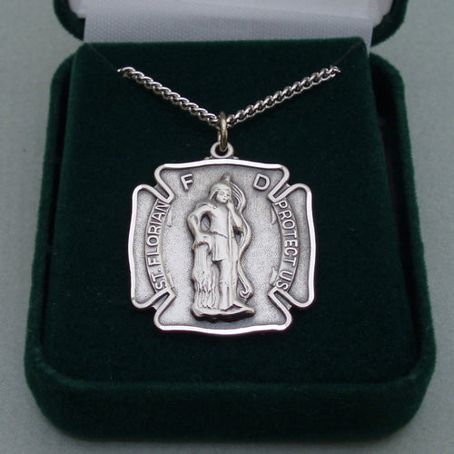 Sterling Silver St. Florian Medal
