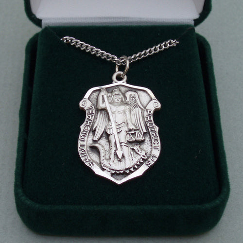 Sterling Silver Irish St. Michael Medal