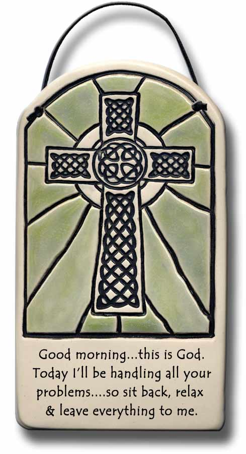 Irish ceramic plaque