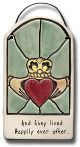 Stained Glass look Ceramic Plaque