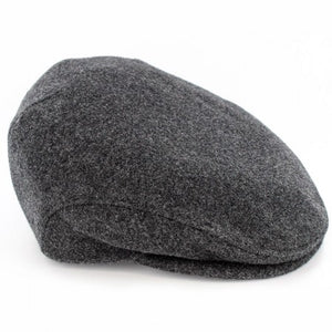 Mucross Weavers Trinity Traditional Wool Irish Flat Cap Charcoal