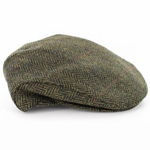 Mucross Weavers Trinity Traditional Wool Irish Flat Cap Been tweed