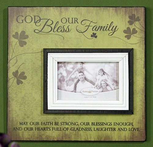 Bless our Irish Family Photo Frame