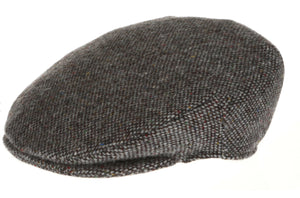 Vintage Tweed Hanna Traditional Irish Flat Cap Grey