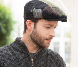 Mucross Weavers Trinity Traditional Wool Irish Flat Cap Patchwork